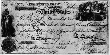 图中是一张票面为720万美元的支票,用于购买阿拉斯加。图片来源:Getty Images / Fotobank